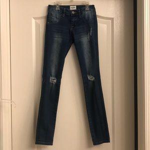 Girls Hudson distressed skinny jeans